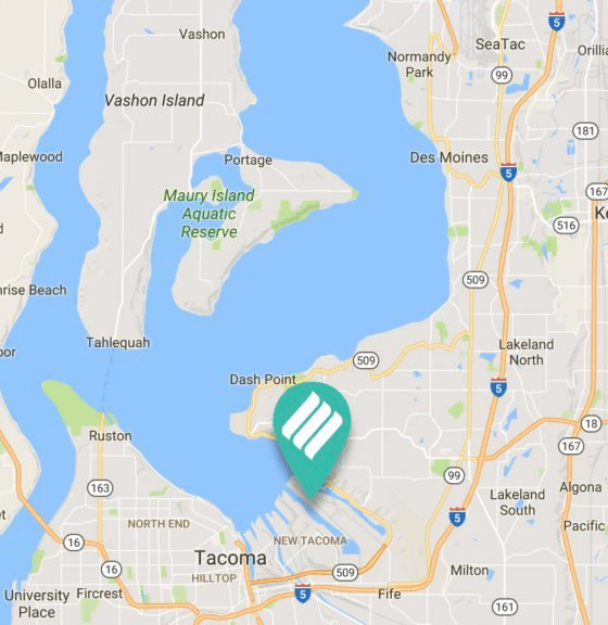 Puget LNG'swaterside location in the Port of Tacoma is ideal for providing LNG to a marine customer base, witheasy access to rail and on-road transportation corridors.